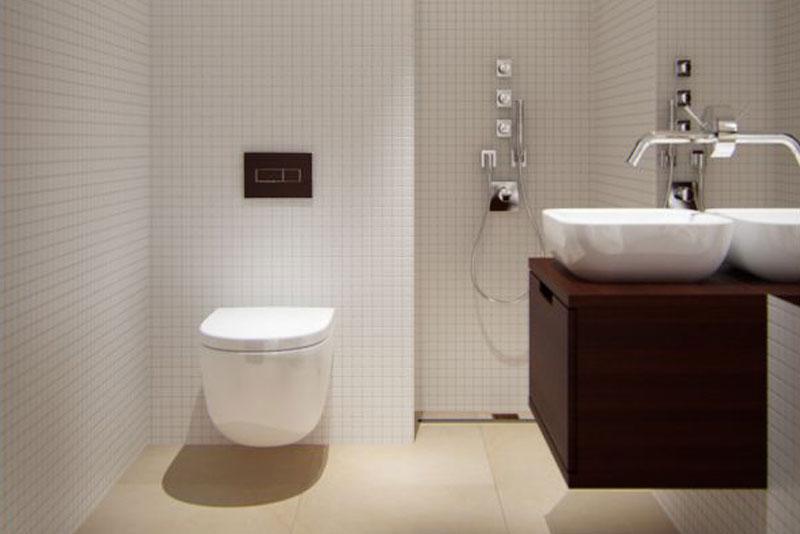 Tips voor een kleine badkamer woonmooi - Kleine betegelde badkamer ...
