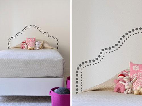 slaapkamer muurstickers boven bed