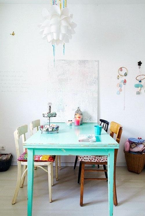 gekleurde tafel