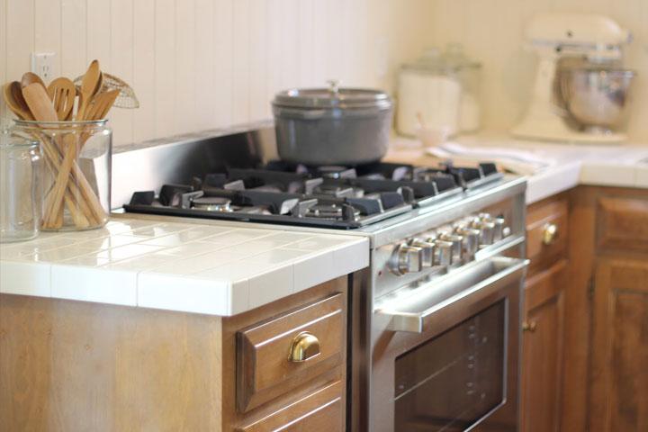 keukenblad van tegels