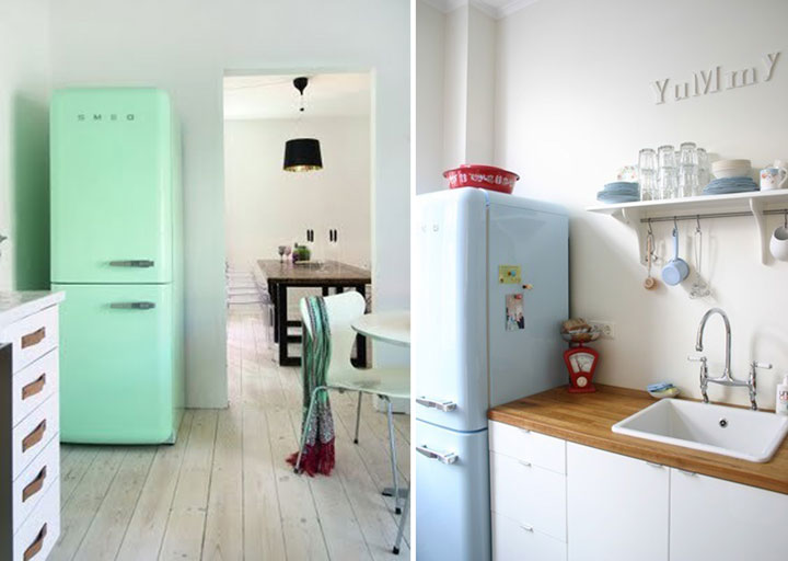Retro and modern refrigerators big chill - 5 Prachtige Retro Koelkasten Woonmooi