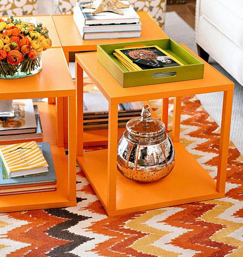 tafelcombo oranje salontafels