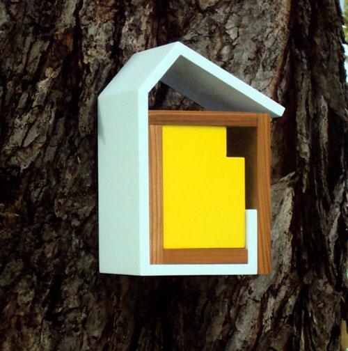 modern vogelhuisje