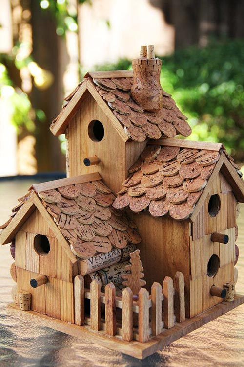 10 superleuke vogelhuisjes woonmooi for How to build a birdhouse out of wine corks
