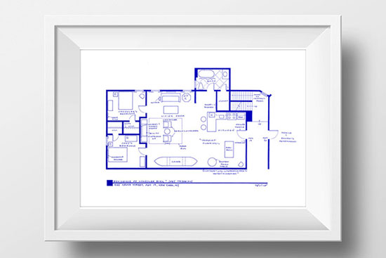 joey chandler appartement blueprint