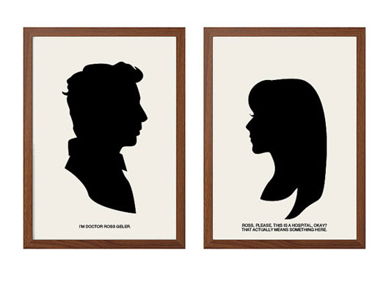 ross rachel friends silhouette