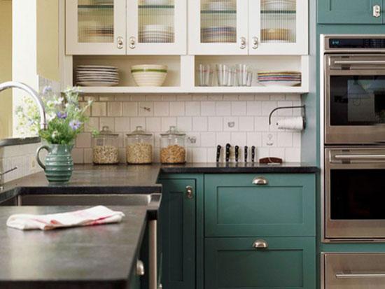keuken in turquoise