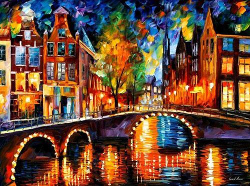 kleurrijk schilderij leonid afrmov