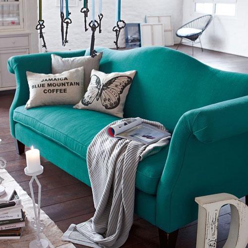 kleurrijke zetel