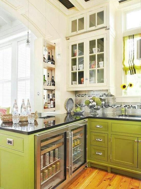lichtgroene keuken