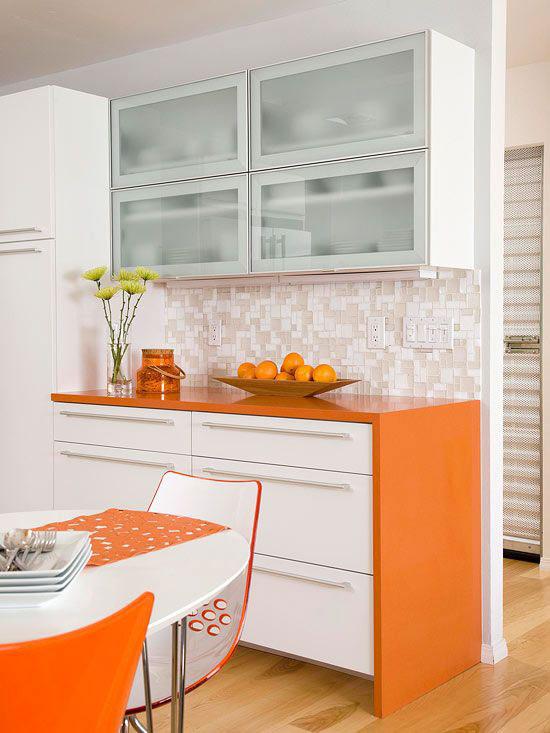 oranje keuken