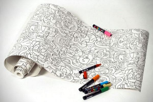 colour-in behangpapier