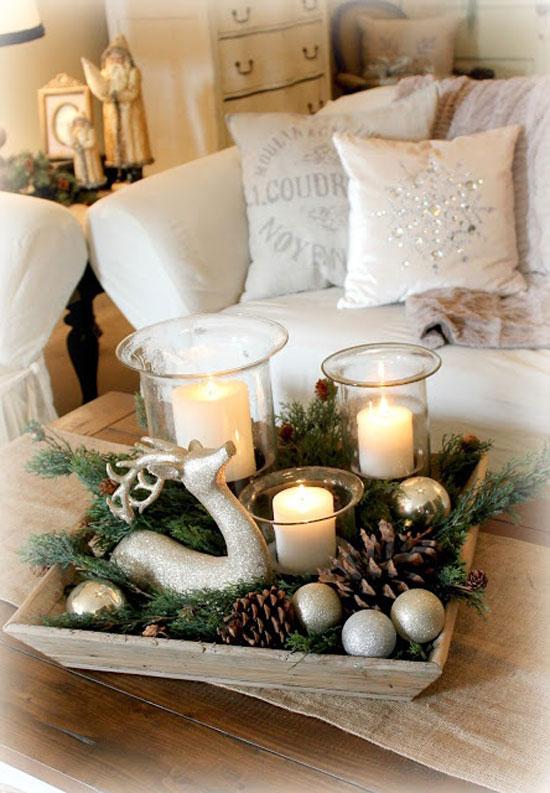 kerstdecoratie dienblad