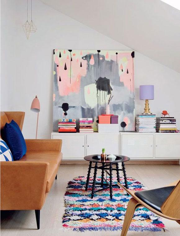 kunstwerk woonkamer