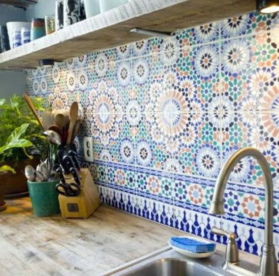 keuken marokkaanse tegels