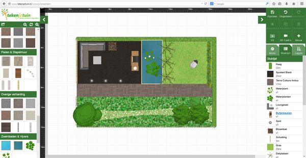 Online je tuin ontwerpen met tekenmijntuin woonmooi for Programma tuin ontwerpen 3d