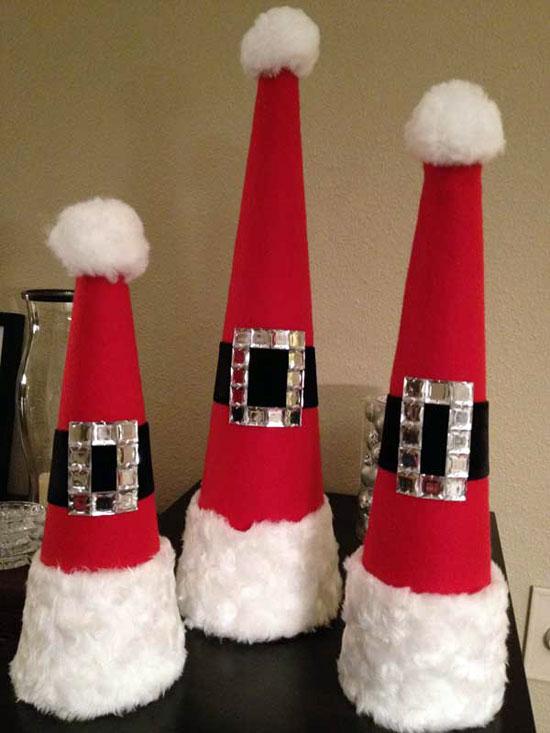 zelfgemaakte kerstmutsen