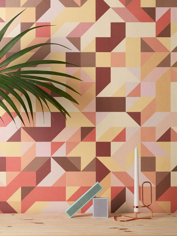 behangpapier met vormen