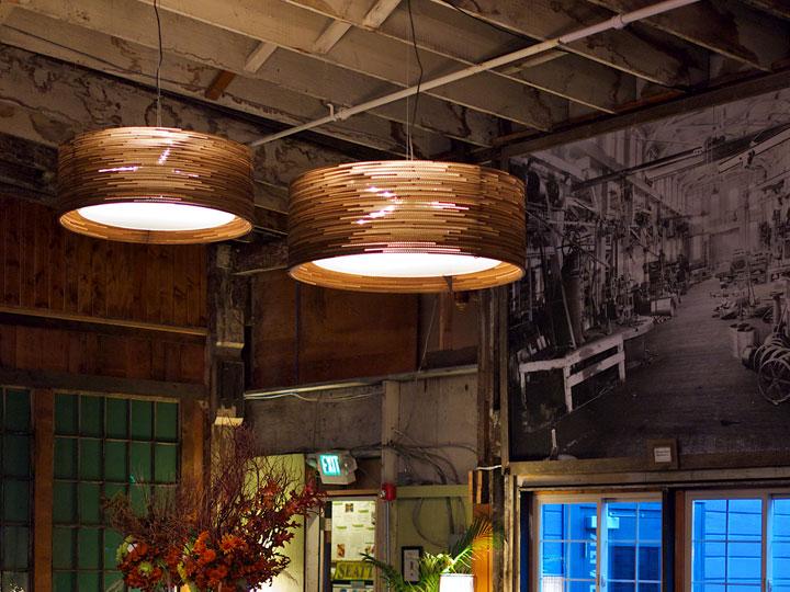 lampen van gerecycleerd karton van graypants