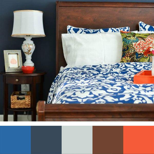 marinekleuren slaapkamer