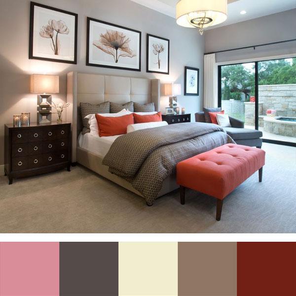 kleuraccenten in de slaapkamer