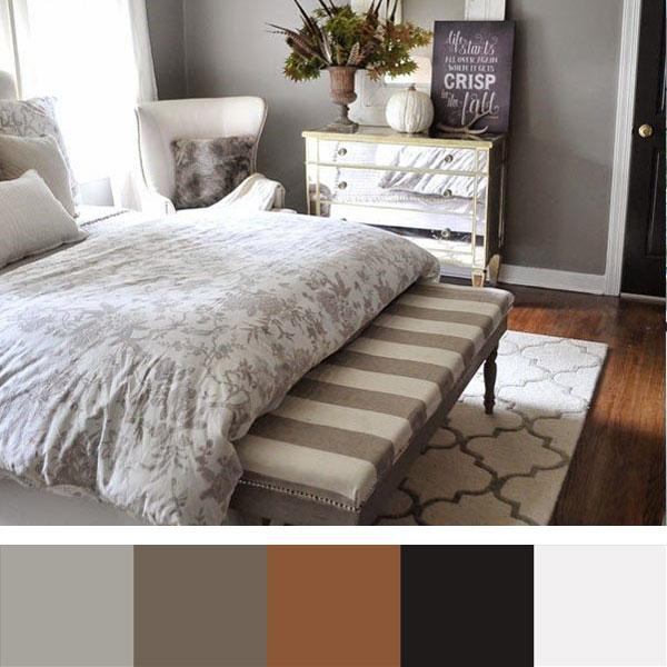 kleurenschema voor slaapkamer