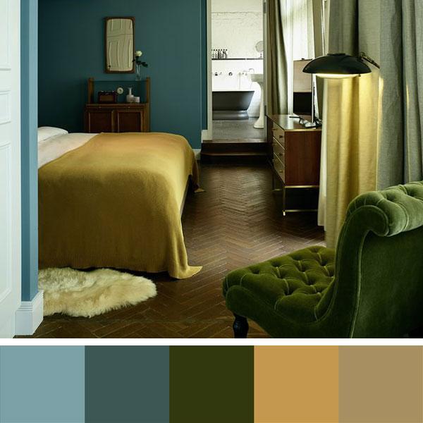 kleurencombinatie voor slaapkamer