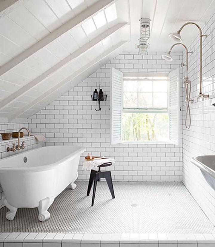 badkamer op de zolder