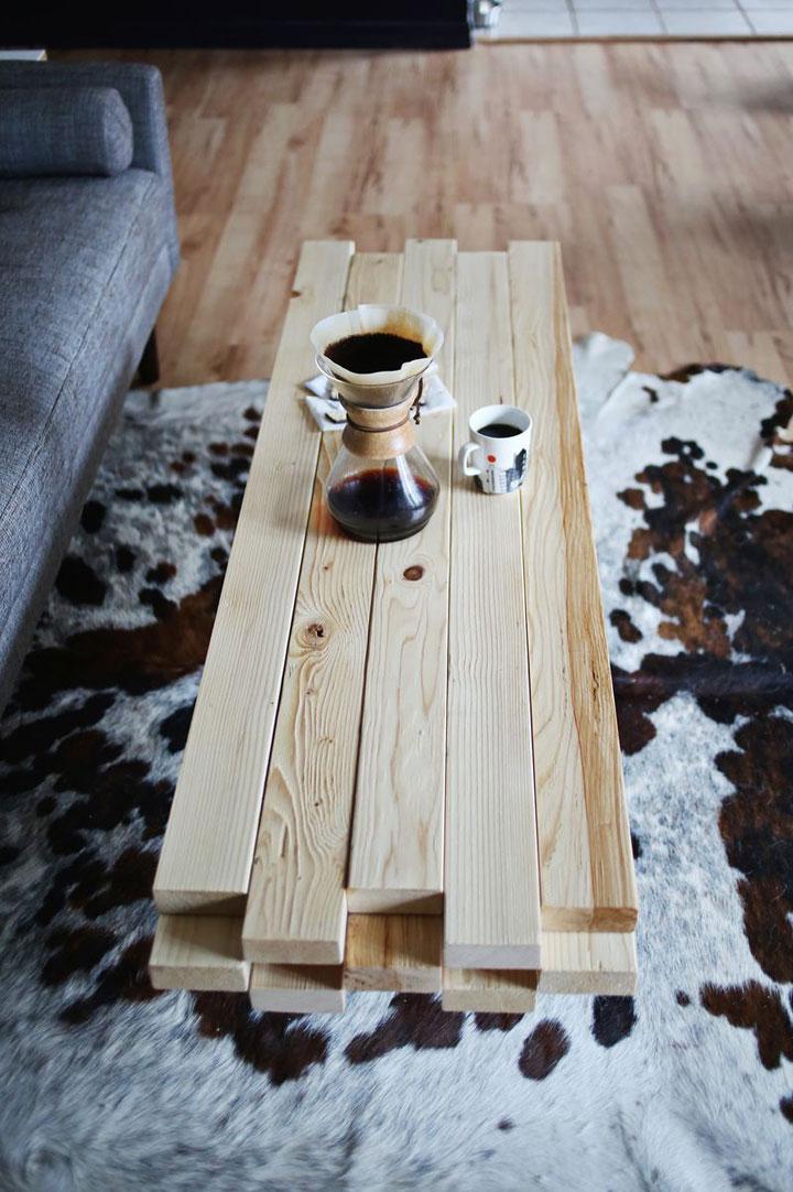 DIY Supermakkelijke Houten Salontafel woonmooi # Planche De Bois Mr Bricolage