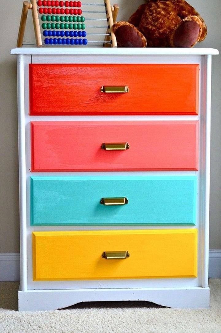 gekleurd kastje