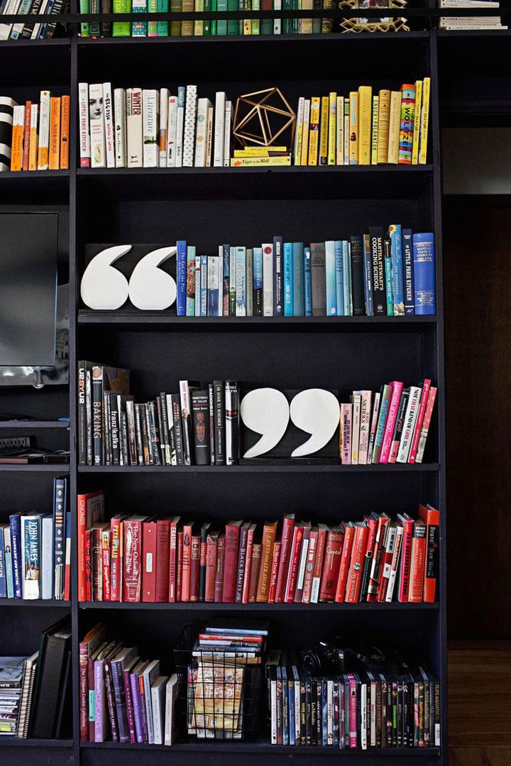 zelfgemaakte boekenkast