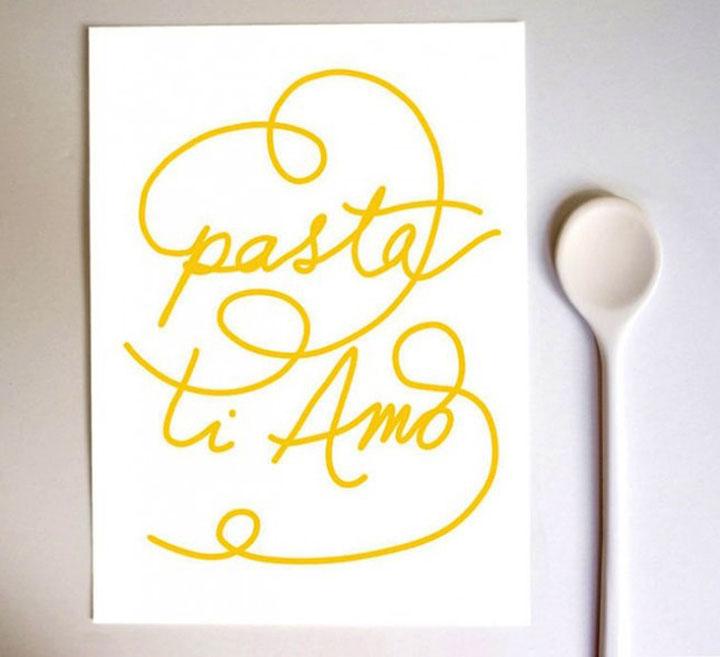 pasta poster keuken