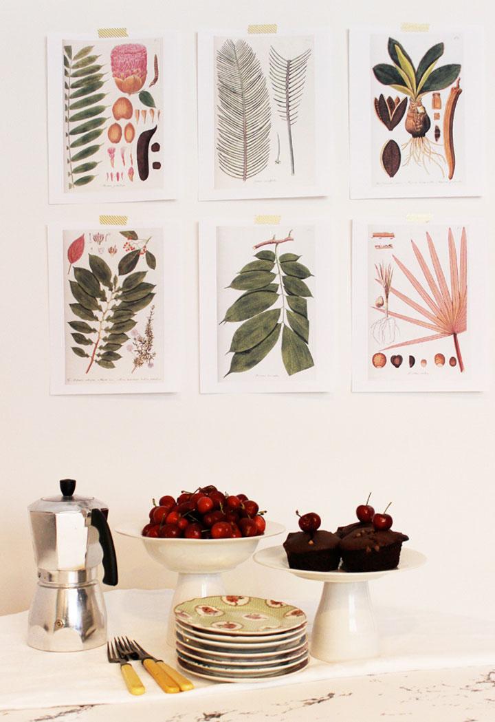 keuken poster botanicals