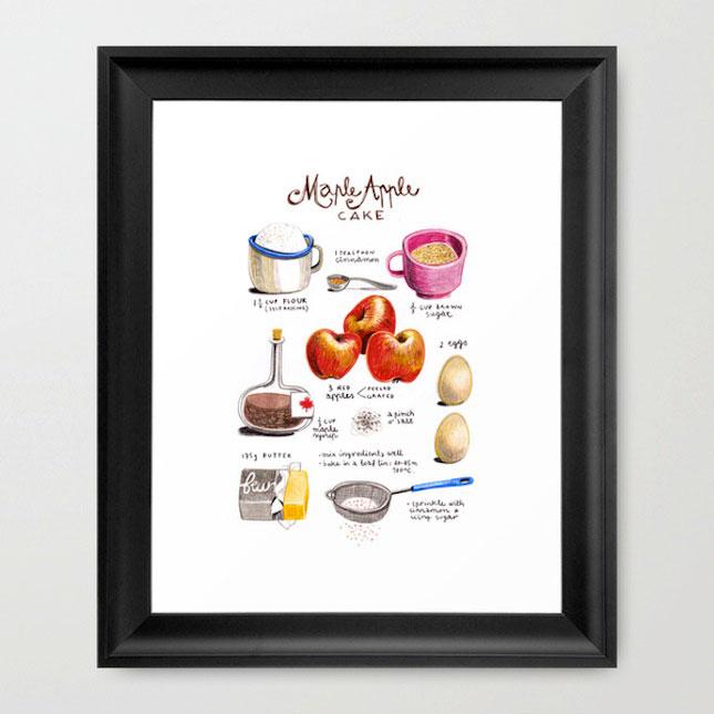 keuken poster appelcake