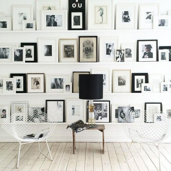 Favoriete 10 Prachtige Muren Vol Fotokaders - woonmooi &DF23