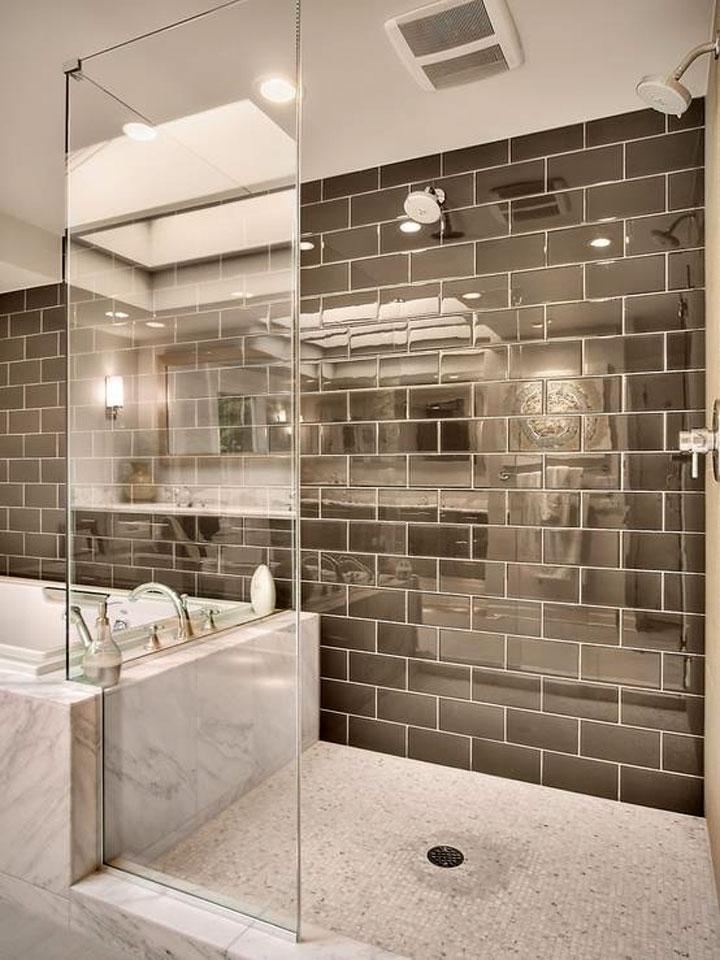 reflecterende badkamertegels
