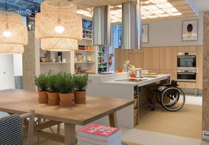 keuken voor rolstoelgebruikers