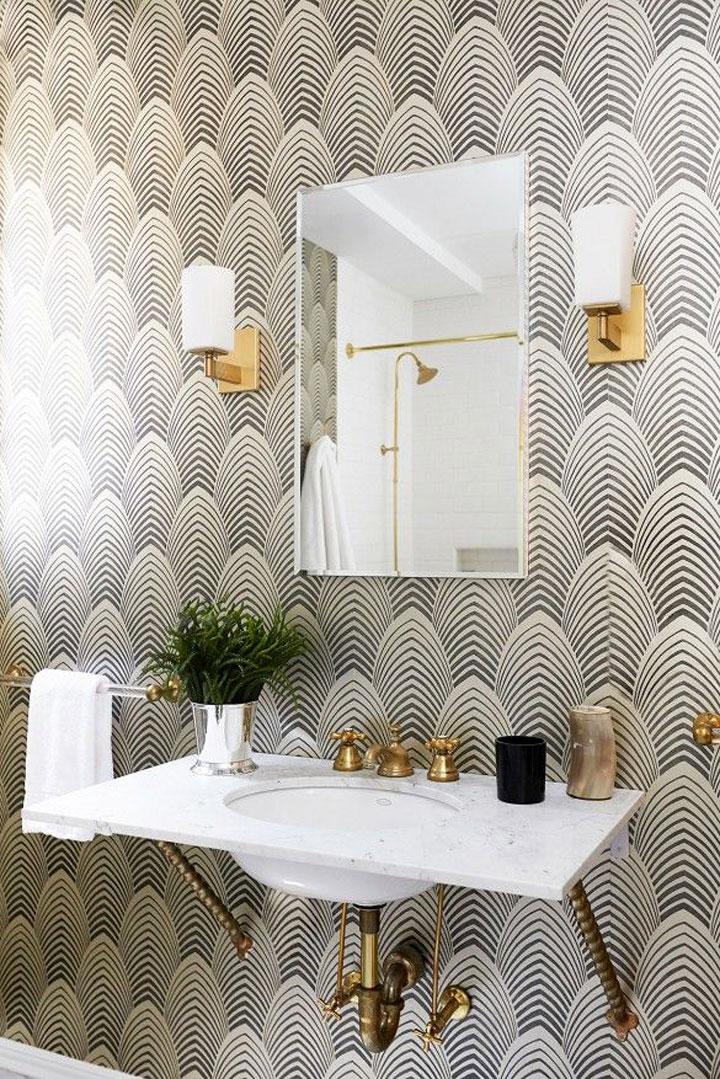 badkamer muur behang: glasvlies behang badkamer u2013 copyjack, Badkamer