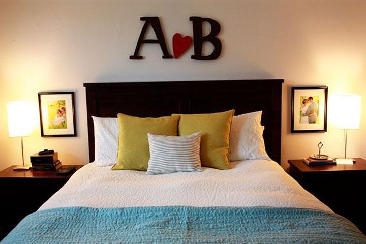 decoratieve letters slaapkamer versiering