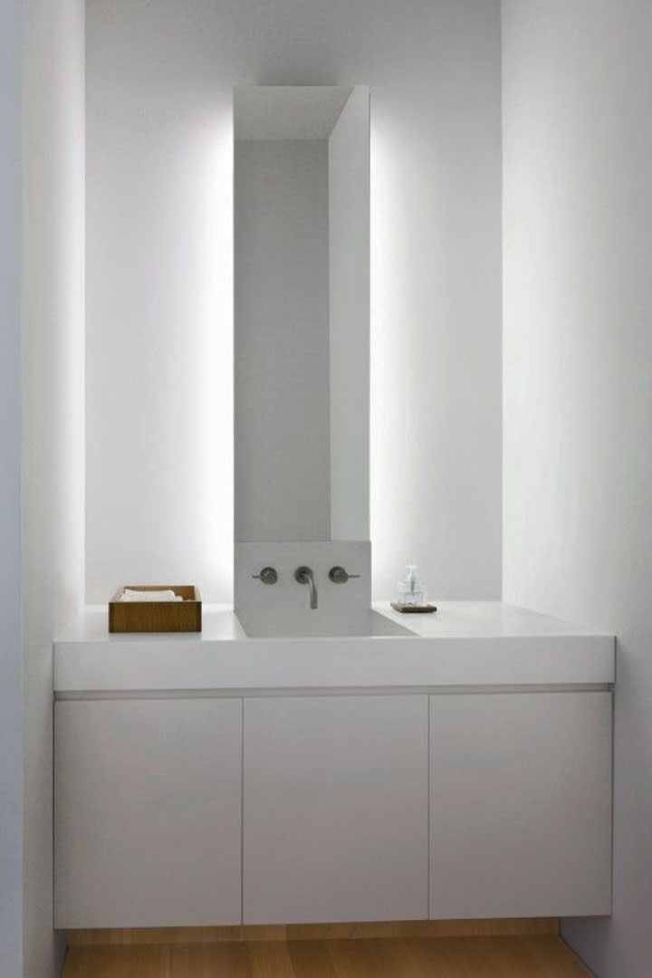 Badkamers met indirecte verlichting woonmooi - Badkamer decoratie ideeen ...
