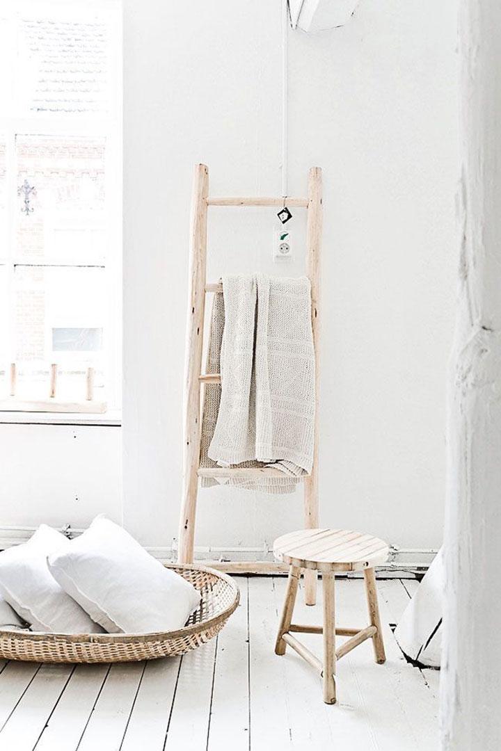 ladder in de badkamer