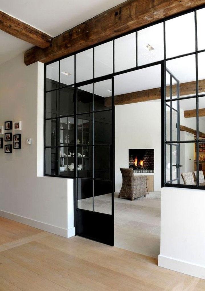 binnendeur staal en glas