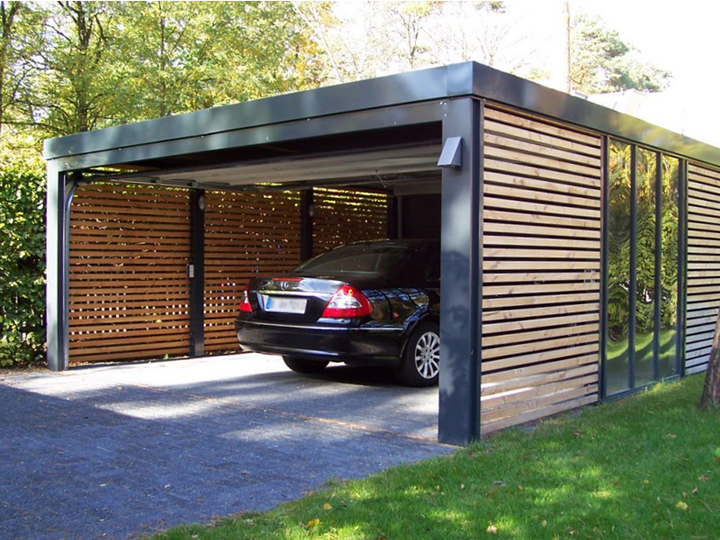 Garage of carport de voor en nadelen op een rijtje for Carport with apartment above