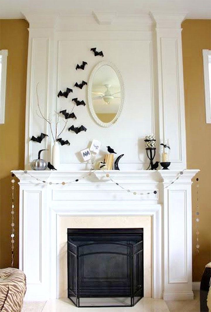 halloweendecoratie woning