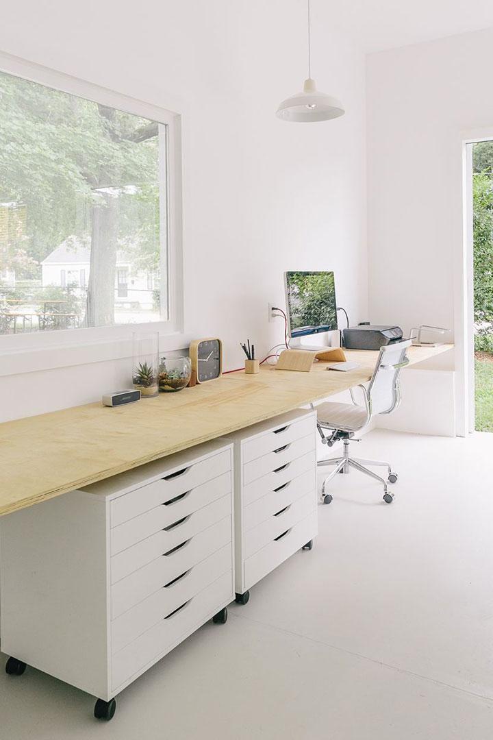eenvoudige bureau