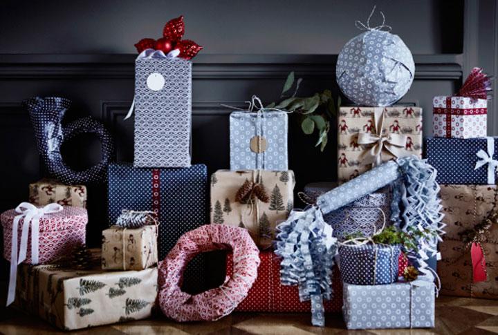 ikea inpakpapier kerstmis