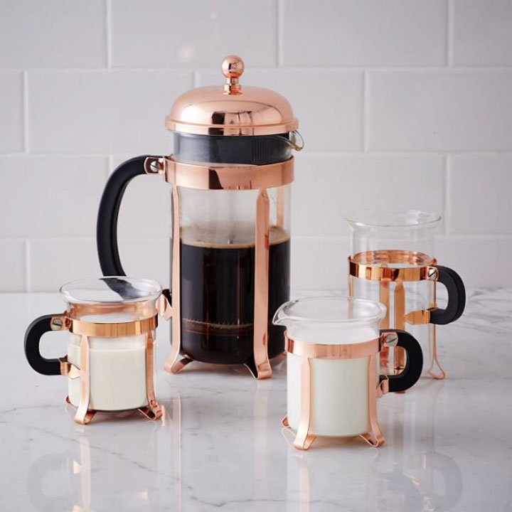 koperen koffieset