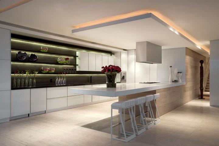 keuken met indirecte verlichting