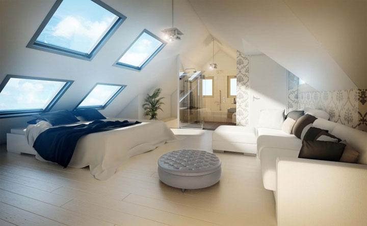 Slaapkamer inrichten op zolder beste inspiratie voor huis ontwerp for Slaapkamer op de zolderfotos