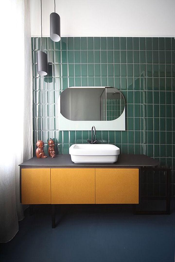 10x Groene tegels in de badkamer - woonmooi